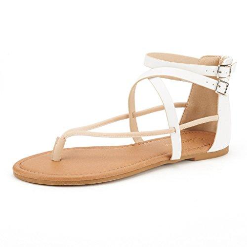 389520649562 DREAM PAIRS CROX New Women Open Toe Fashion Crisscross Valcre Ankle Straps  Summer Design Flat Sandals