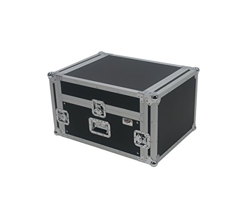 OSP Cases | ATA Road Case | 4-Space Amplifier Rack with 12-Space Mixer Slant | ()