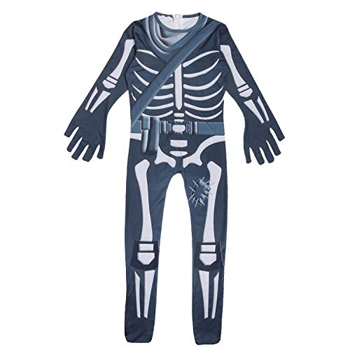 (Kids Skull Trooper Costume Halloween Party Zentai Cosplay Costume with)