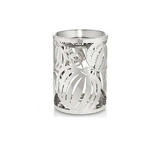 Halloween Candle Holder Silver Tea Light Oil Warmer Pumpkin Fragrance Thanksgiving Scented Diffuser Home Decor Holiday