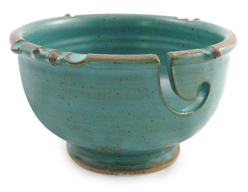 Anthony Stoneware Handmade Yarn Bowl, Teal Green by Anthony Stoneware