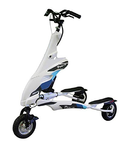 Trikke White Pon-e 48v 2WD Rechargeable Foldable Scooter