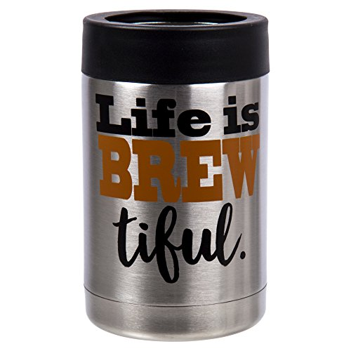 PURE Drinkware, Stainless Steel Can and Bottle Cooler, 5 inches, Orange by PURE Drinkware