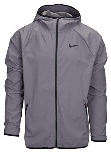 Nike Men's Big Tall Dri-Fit Lightweight Full Zip Hooded Shell Jacket (2X Tall, Gunsmoke Gray) ()