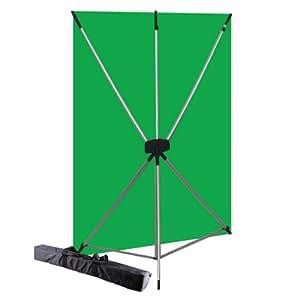 Westcott 579K X-Drop Kit with 5 x 7 Feet Green Screen Backdrop (Green/Silver)
