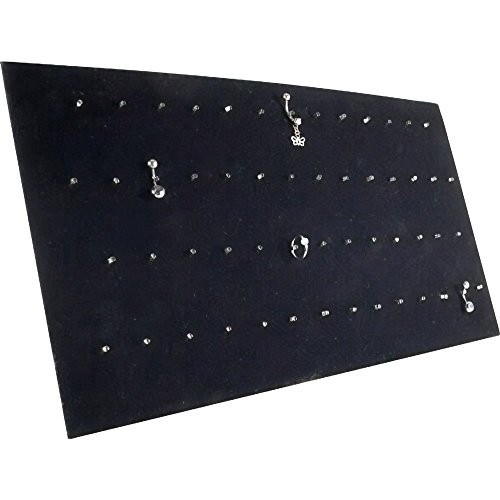 Jewelry Display Belly (Black Velvet Body Jewelry Pad Showcase Display Easel)