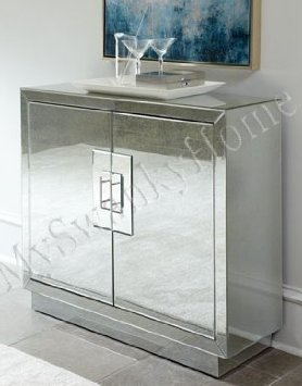 Contemporary Lily MIRRORED CABINET Modern Accent by Neiman Marcus