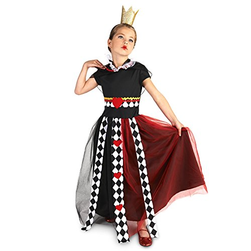 Queen of Hearts Child Dress Up Costume L (12-14) - Kids Queen Of Hearts Costumes
