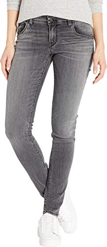 HUDSON Women's Collin Mid-Rise Skinny Jeans in Black Coral Black Coral 29 32