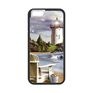 DANGDANG Lighthouse Shell Phone for iphone6 Black Cover Phone Case [Pattern-1]