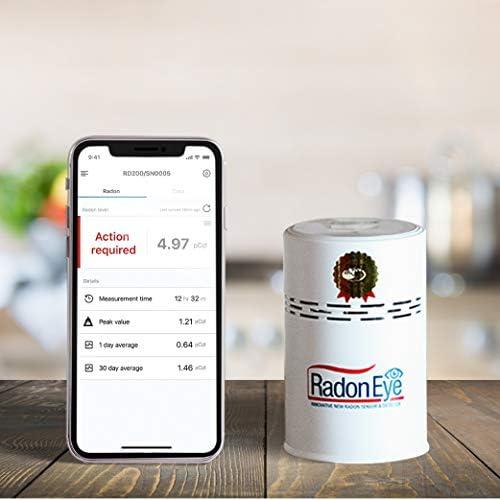 Radon Eye RD200 Ecosense, Fastest Most Reliable Detector, OLED Display Easy Setup Free App, Bluetooth, Real-Time Radon Reading Monitor