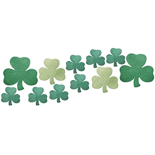 (Creative Converting 12 Piece Decorative Die Cut Glitter Shamrock Assortment,)