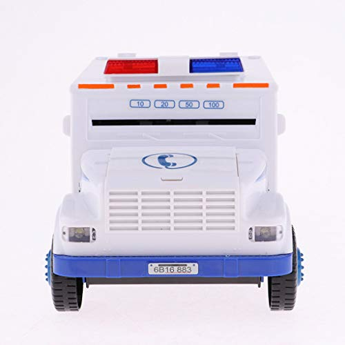 ESC White Armored Truck Password Piggy Bank Money Saving Box with Coin & Note Insertion Music by ESC (Image #1)