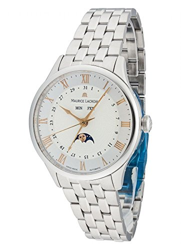 Maurice Lacroix Masterpiece Phases de lune Automatic Watch, Silver, ML 37