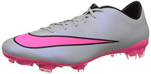 Nike Men's Mercurial Veloce Ii Fg Grey/Hyper Pink/Black/Black Soccer Cleat 9.5
