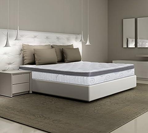 Olee Sleep 13 Inch Box Top Hybrid Gel Infused Memory Foam Innerspring Mattress (King) 13SM01K - Soft Foam Top