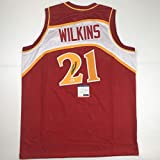 Autographed/Signed Dominique Wilkins Atlanta Red