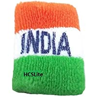 HCSLite Unisex Fabric Republic Day Special Indian National Flag Tricolor Tiranga Flag Fabric Rubber Wrist Band | Republic Day Tiranga Rubber Hand Band | Indian Flag Colored | Free Size Set of 2