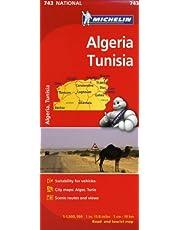 Michelin Africa Algeria Tunisia Map 743