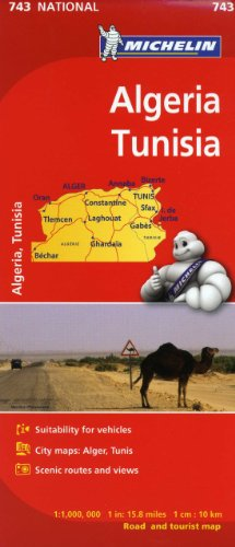 Michelin Map Africa Algeria Tunisia 743 (Maps/Country (Michelin))