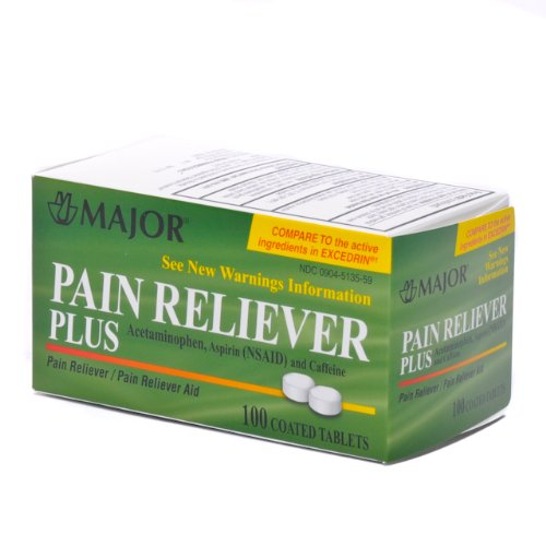 Pain Reliever Plus (Excedrin) - Pain Reliever Plus Tablets, 100/bottle - 1 Each