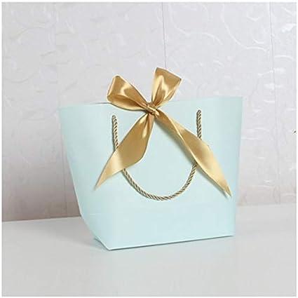 FGEAHDG caja de regalo Caja de regalo dorada grande Pijamas Ropa Empaquetado de libros Mango dorado Bolsa de cartón Tamaño mixto S: Amazon.es: Oficina y papelería