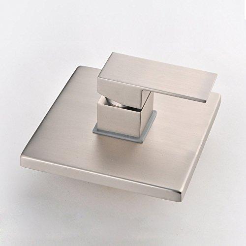 JiaYouJia Brushed Nickel Square 1-Handle Single-Function Shower Valve & Trims by JiaYouJia