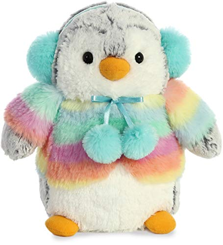 Aurora World Inc. Pompom Penguin Rainbow Mint
