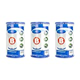 Intex B00LCIR3VS Pool Easy Set Type B Replacement Filter Pump Cartridge (3 Pack), 1, White