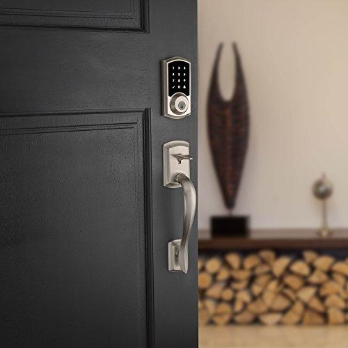 Kwikset 99160-008 SmartCode ZigBee Touchscreen Smart Lock works with Echo Plus & Alexa, featuring SmartKey, Satin Nickel by Kwikset (Image #10)