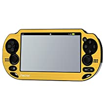 Insten® Aluminum / Plastic Case Compatible With Sony PSP Vita , Gold