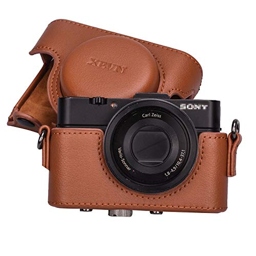 XEVN for Sony rx100 case,for Sony rx100 vi case,dsc-rx100 Mark ii,dsc-rx100 iii.dsc-rx100 iv,dsc-rx100 v Protective Leather Camera Case Bag