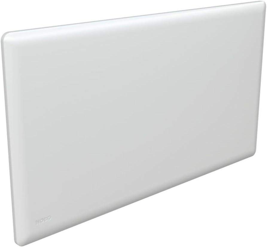 NOBO E82440010 Radiador eléctrico noruego de 1000W montado en la pared con termostato NCU-2Te, Blanco