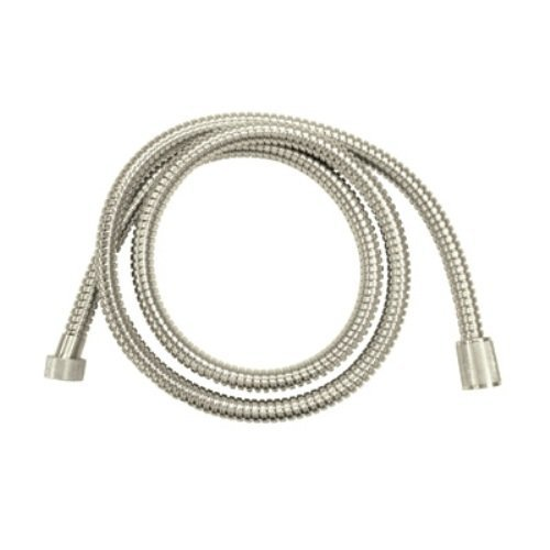Rohl A40/1STN 59-Inch Bossini Metal Bath Hose with 1/2-Inch Conical Nut in Satin Nickel by Rohl ()