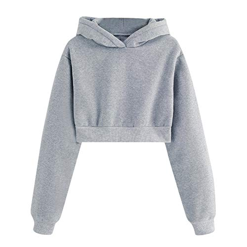 Solid Color Sweatshirt, Clearance Duseedik Women Solid Color Round Neck Casual Loose Long Sleeve Tops Blouse