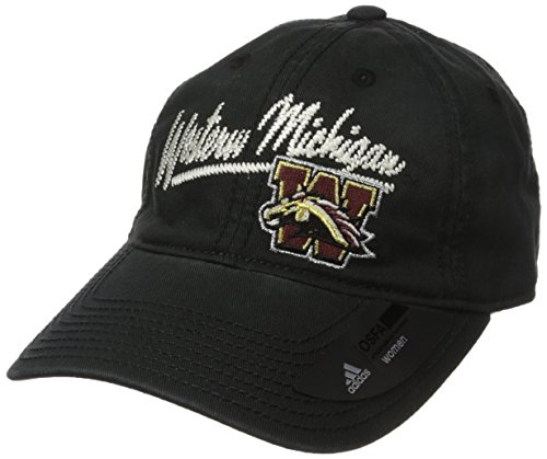 (adidas NCAA Western Michigan Broncos Women's Adjustable Slouch, One Size, Black)