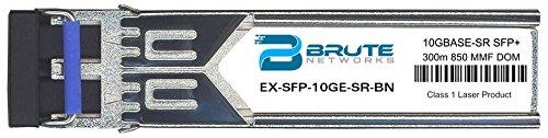 Brute Networks EX-SFP-10GE-SR-BN - 10GBASE-SR 300m MMF 850nm SFP+ Transceiver (Compatible with OEM PN# EX-SFP-10GE-SR) by Brute Networks