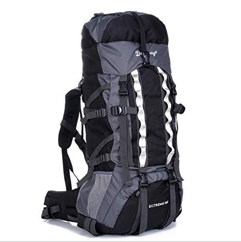 Jiuyizhe Zaino da Viaggio Daypack da Trekking Impermeabile con parapioggia per Arrampicata Camping Alpinismo (Colore   nero)