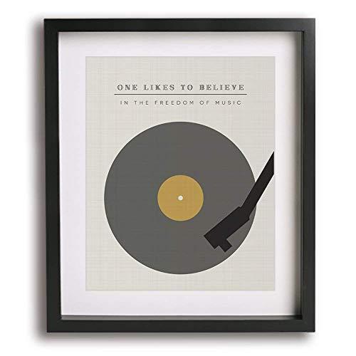 The Spirit Of Radio   Rush inspired song lyric art print - modern music wall decor poster