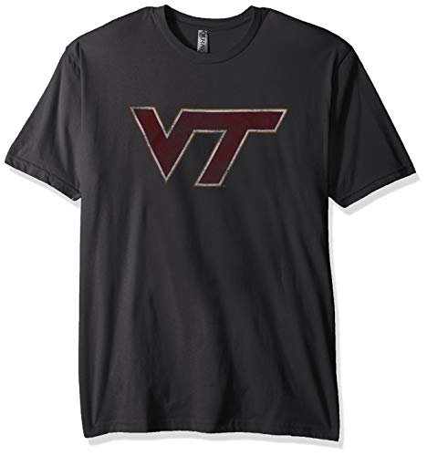 - NCAA Virginia Tech Hokies Men's Sueded Short Sleeve Tee, Heavy Metal, Medium