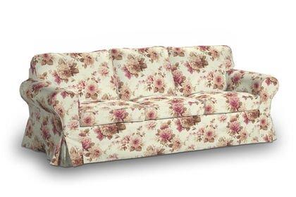 Funda para IKEA EKTORP 3 sofá de tela de flores en beige ...