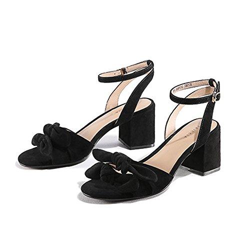 Hebilla cn36 Solo A Eu36 Cómodas Zhirong Puro Mujer Botón C Tamaño Un Verano Color Zapatos Abierta Sandalias uk4 Punta Con De Grueso xxqzwSgR