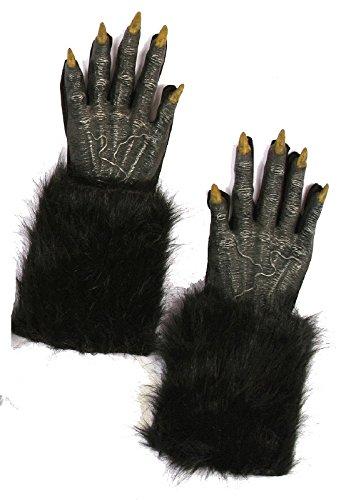 Fun World Unisex Werewolf Hands Adult Gloves, black,