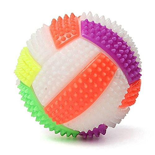 Catnew LED Flashing Colorful Changing Bouncing Massage Hedgehog Ball Volleyball Children Kids Toy