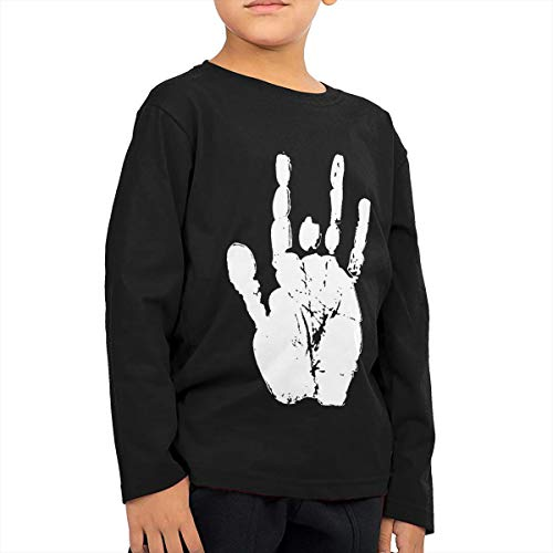 Children's Long Sleeve T-Shirt Grateful Dead Jerry Hand Kids Cotton Tee ()