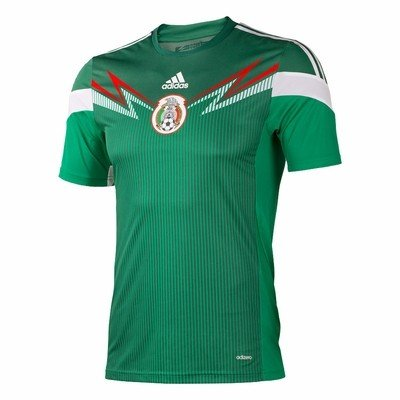 059b3227 Amazon.com: adidas Mexico Home Authentic Jersey 2014: Sports & Outdoors