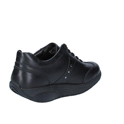 Mbt Nia Kant Zwarte Vrouwen Lage Schoenen Zwart Leer