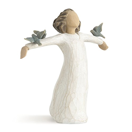 Willow Tree Happiness, sculpted hand-painted figure (Willow Tree Angel Stand)