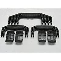 3 Black Replacement Handles / 4 Latches for Pelican 1610 / 1620. Customize your Pelican 1610 / 1620 Case.