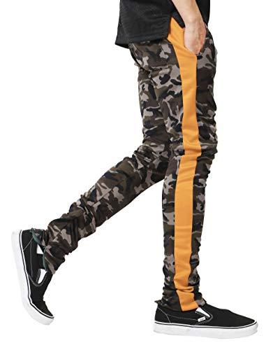 Slim Hommes Pantalon Élastique Pour De Jaune Hnjtjh6u5 Coupe Jogging Décontracté Camouflage Ceinture dtq61f0